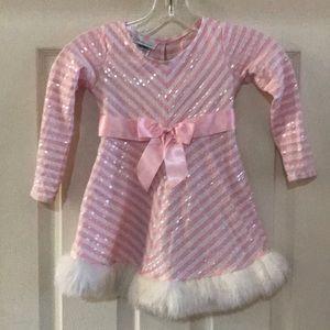 Pink holiday Bonnie Jean dress size 4t